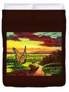 Sunshine Traveler-monarch Duvet Cover