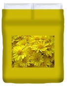 Sunshine Yellow Chrysanthemums Duvet Cover