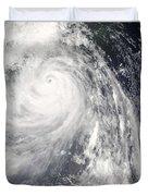 Super Typhoon Wipha Duvet Cover