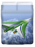 Supersonic Aircraft Design Duvet Cover
