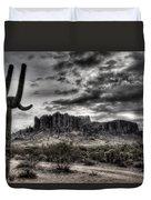 Superstition Saguaro  Duvet Cover