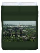 Supertrees At The Gardens By The Bay In Singapore Duvet Cover
