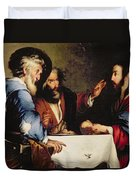 Supper At Emmaus Duvet Cover by Bernardo Strozzi