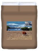 Surf And Turf  Duvet Cover by Jeff Lowe