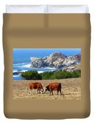 Surf And Turf Two Duvet Cover by Jeff Lowe
