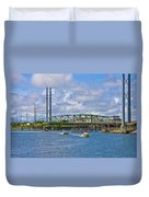 Surf City Swing Bridge Duvet Cover
