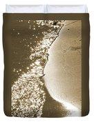 Surfs Edge In Sepia Duvet Cover
