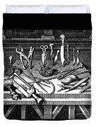 Surgical Equipment, 16th Century Duvet Cover