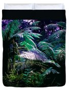 Surreal Tropical Forest Drawing Illustrated Scene Duvet Cover