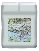 Swallows At The River Duvet Cover
