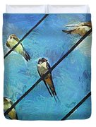 Swallows Goes To South Duvet Cover
