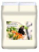 Swallowtail Card Duvet Cover