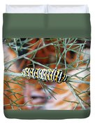 Swallowtail Caterpillar Duvet Cover