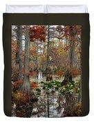 Swamp In Fall Duvet Cover