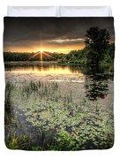 Swamp Sunrise Duvet Cover
