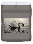 Swan Along The Shore Duvet Cover