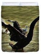 Swan Dance 2 Duvet Cover