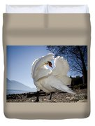 Swan In Backlight Duvet Cover