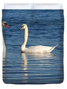 Swan Mates Duvet Cover by Sabrina L Ryan
