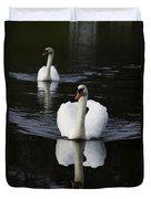 Swan Pair 2 Duvet Cover