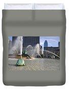 Swann Memorial Fountain In Philadelphia Duvet Cover