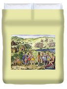 Swedish Colonists, 1702 Duvet Cover