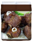 Sweet And Sour Ribs Chinese Food  Duvet Cover by Paul Ge