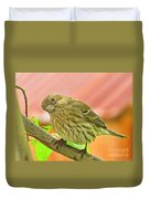 Sweet Finch Painted Effect Duvet Cover