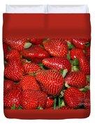 Sweet Florida Strawberries Duvet Cover