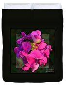 Sweet Pea Pop Out Photoart Square Duvet Cover