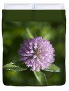 Sweet Pink Clover Duvet Cover