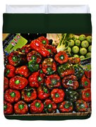 Sweet Red Peppers Duvet Cover