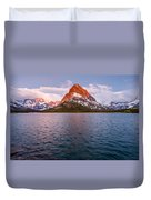 Swiftcurrent Lake At Dawn Duvet Cover