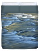 Swiftly Rushing Water In A Stream Duvet Cover