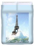 Swimming Pleasure In Paris Duvet Cover