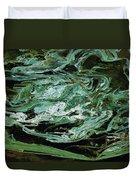 Swirling Algae Duvet Cover