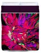 Swirly Fabric Flower Duvet Cover