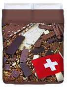 Swiss Chocolate Duvet Cover by Joana Kruse
