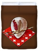 Swiss Chocolate Praline Duvet Cover by Joana Kruse
