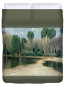 Swiss Landscape Duvet Cover by Alexandre Calame