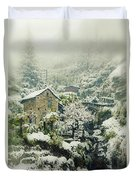 Switzerland In Winter Duvet Cover by Joana Kruse