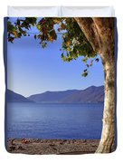 sycamore tree at the Lake Maggiore Duvet Cover by Joana Kruse