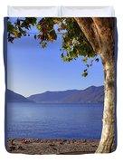 sycamore tree at the Lake Maggiore Duvet Cover