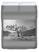 sycamore trees in Ascona - Ticino Duvet Cover