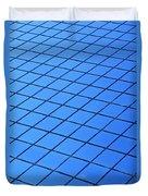 Symmetrical Pattern Of Blue Squares Duvet Cover