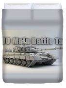 T-80 Main Battle Tank Duvet Cover