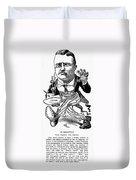 T. Roosevelt Cartoon, 1903 Duvet Cover
