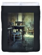 Table And Chairs Duvet Cover by Jill Battaglia