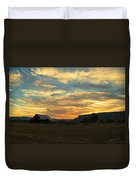 Table Rock Sunset And Barn Duvet Cover
