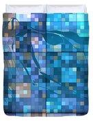 Take Me Geometric Blue Duvet Cover